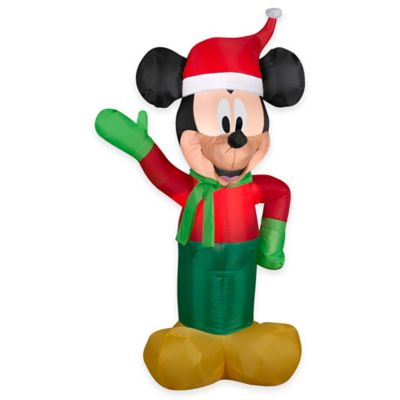 3.5-Foot Inflatable Outdoor Mickey Mouse Holiday Lawn Ornament