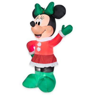 5.5-Foot Inflatable Outdoor Minnie Mouse Holiday Lawn Ornament