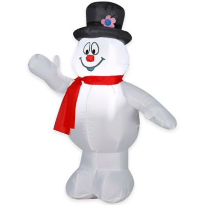 3.5-Foot Inflatable Outdoor Frosty the Snowman Holiday Lawn Ornament