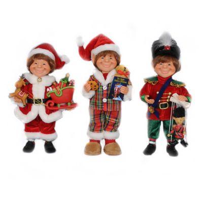 3-Piece Traditional Elf Figurine Set