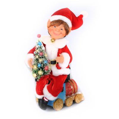 10-Inch Train Elf Figurine