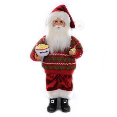 13-Inch Popcorn Santa Figurine
