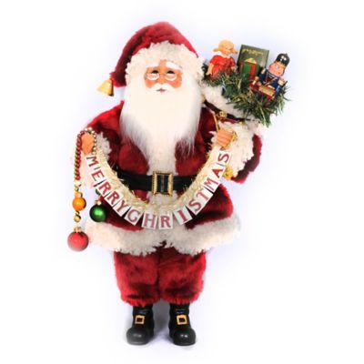 17-Inch Merry Christmas Santa Figurine