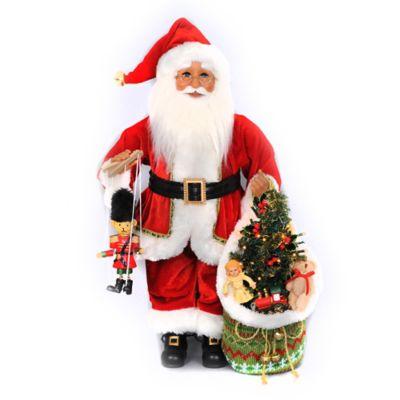 19-Inch Lighted Nutcracker Santa Figurine