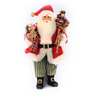 18-Inch Vintage Evergreen Santa Figurine