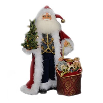 17.5-Inch Lighted Traditional Santa Figurine