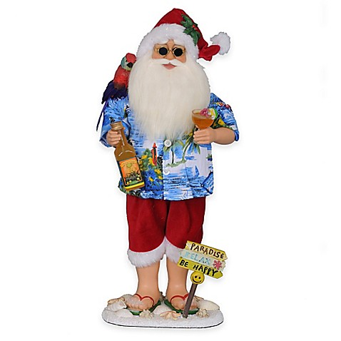 Margarita Beach Santa Figurine - www.BedBathandBeyond.com