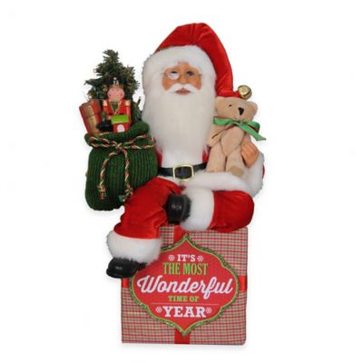 16-Inch Lighted Wonderful Traditional Santa Figurine