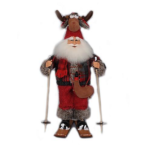Buy 18 Inch Moose Hat Ski Santa Figurine From Bed Bath