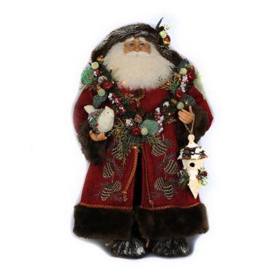 21-Inch Lighted Woodland Santa Figurine