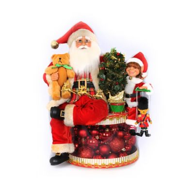 19-Inch Lighted Traditional Christmas Glow Santa Figurine