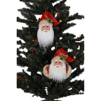 Assorted Santa Ornaments (Set of 6)