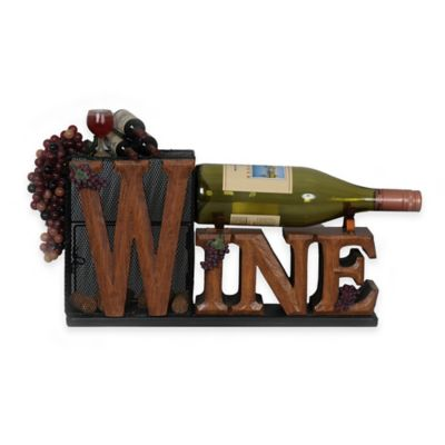 "Cork Cage ""Wine"" Bottle Holder"