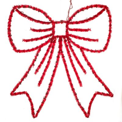 Prelit Red Festoon Holiday Bow