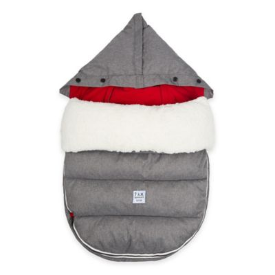 7 A.M.® Enfant LambPOD Medium/Large Footmuff Cover with Base in Heather Grey/Red