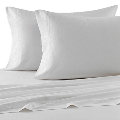 Laura Ashley® Charlotte King Sheet Set in White