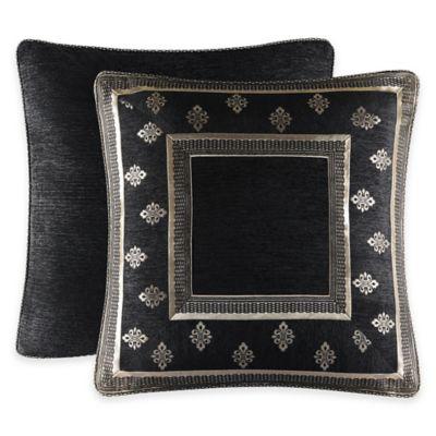 J. Queen New York Portofino European Pillow Sham in Black