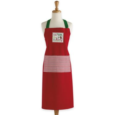 Be Merry Chef's Apron in Red