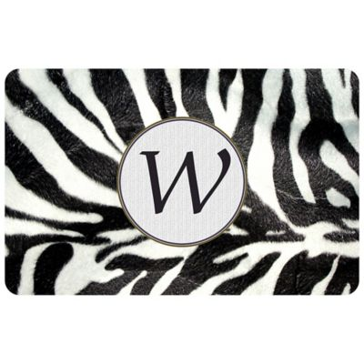 Bungalow Flooring The Softer Side by Weather Guard™ 27-Inch x 18-Inch Zebra Door Mat