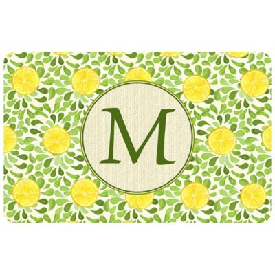 Bungalow Flooring Weather Guard™ 27-Inch x 18-Inch Lemon Watercolor Kitchen Mat
