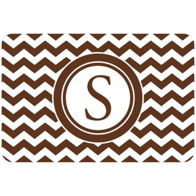 The Softer Side by Weather Guard™ 27-Inch x 18-Inch Chevron Kitchen Mat