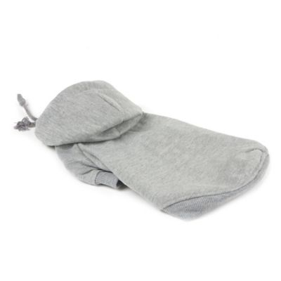 Fashion Plush Extra Small Cotton Pet Hoodie in Grey
