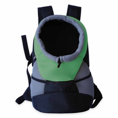 On-The-Go Travel Bark-Pack Backpack Pet Carrier in Green