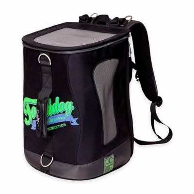 Touchdog Airline-Approved Triple Carrying Water-Resistant Pet Carrier in Black