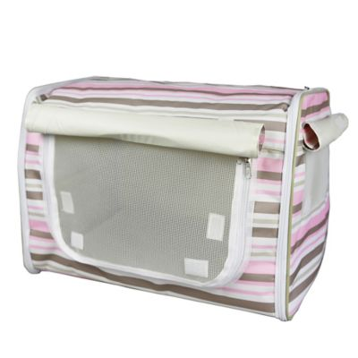 Easy Folding Zippered X-Small Pet Crate in Khaki