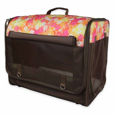 Floral Folding Zippered Extra Large Pet Crate