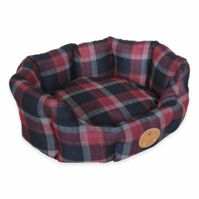 Nano-Silver and Antibacterial Extra Small Circular Dog Bed in Red/Blue