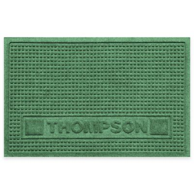 Weather Guard™ 18-Inch x 28-Inch Squares Pet Mat in Light Green