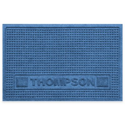Weather Guard™ 18-Inch x 28-Inch Squares Pet Mat in Medium Blue