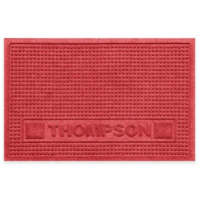 Weather Guard™ 18-Inch x 28-Inch Squares Pet Mat in Solid Red