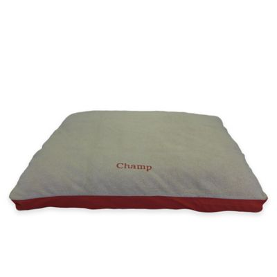 Four Season Jamison Small Pet Bed in Khaki/Red