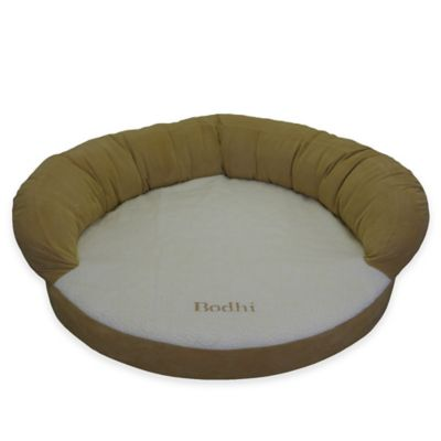 Ortho Small Sleeper Bolster Pet Bed in Caramel