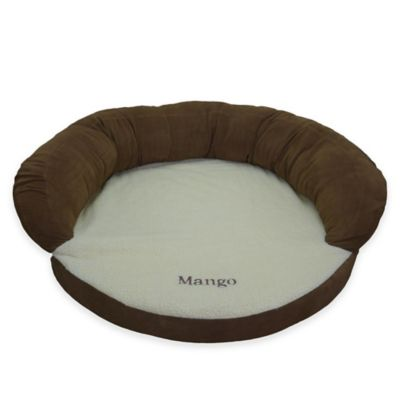 Ortho Small Sleeper Bolster Pet Bed in Chocolate