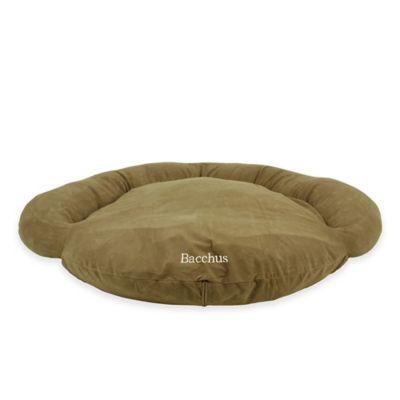 Velvet Microfiber Small Bolster Pet Bed in Sage