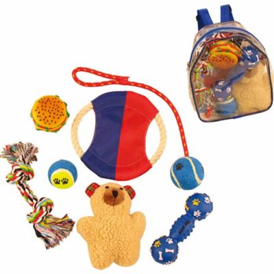 8-Piece Backpack Pet Toy Set