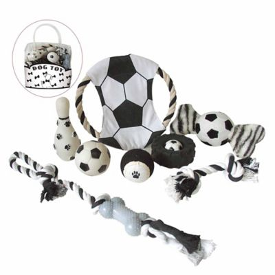 Soccer-Themed 8-Piece Pet Toy Set