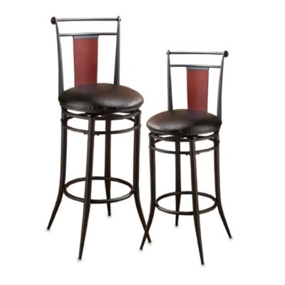 Hillsdale Manhattan Swivel 30-Inch Stool in Black