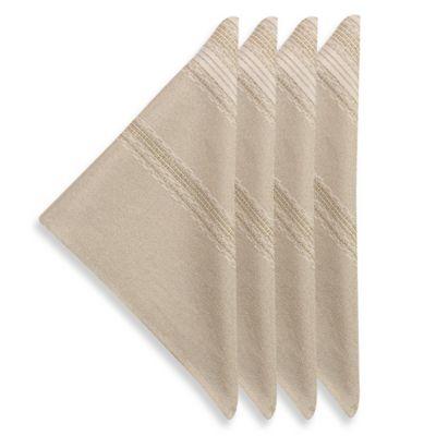 Brilliant Holiday Stripe Napkins (Set of 4)