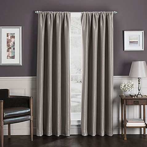 buy sebastian 63 inch rod pocket insulated total blackout window curtain panel in mocha from bed. Black Bedroom Furniture Sets. Home Design Ideas