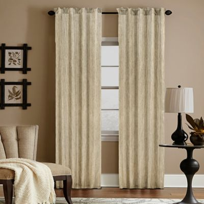 Woodrow 63-Inch Sheer Rod Pocket Window Curtain Panel in Bronze