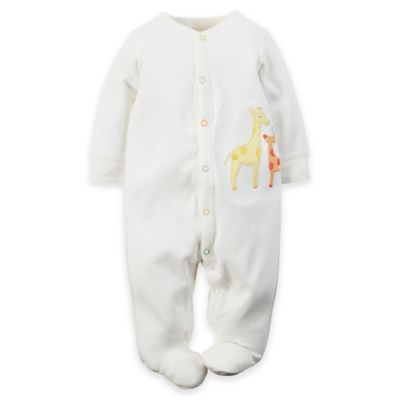 carter's® Newborn Snap-Front Jungle Footie in Ivory/Multicolor