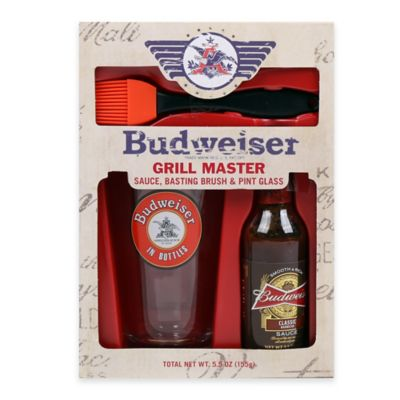 Budweiser® Grill Master Sauce, Basting Brush & Pint Glass Gift Set