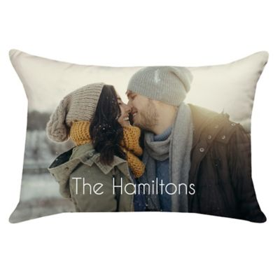 14-Inch x 20-Inch Rectangle Dual Sided Photo Poplin Throw Pillow