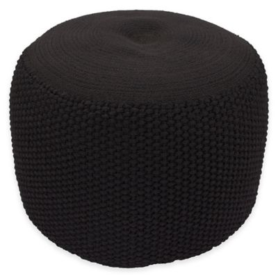 Black Outdoor Pouf