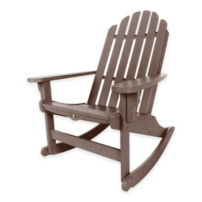 Pawleys Island® Durawood® Essential Adirondack Rocker in Chocolate/Weatherwood