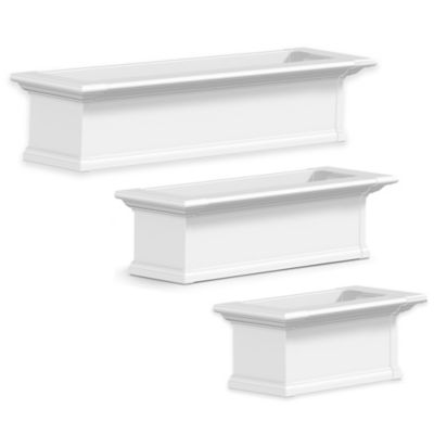 Mayne Yorkshire 2-Foot Window Box in White